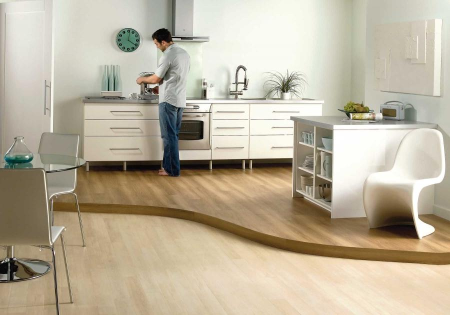 ... Laminate flooring kitchen delivered by Inspire Flooring...