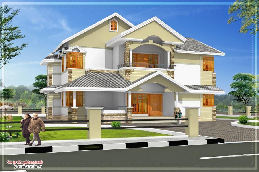 Kerala model house elevation photos for Kerala house elevation models