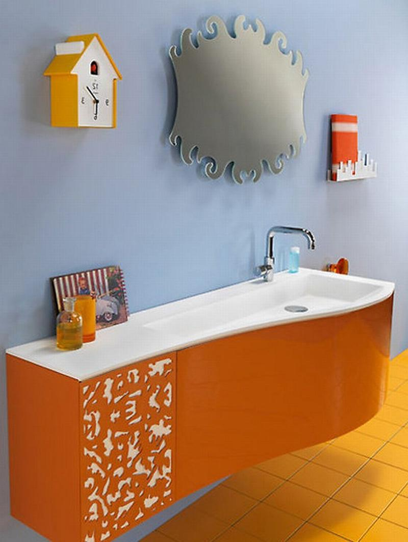 orange bathrooms photos