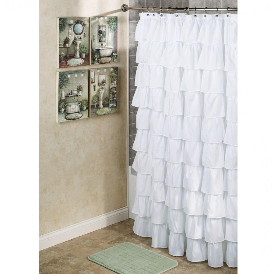 And White Photo Shower Curtain