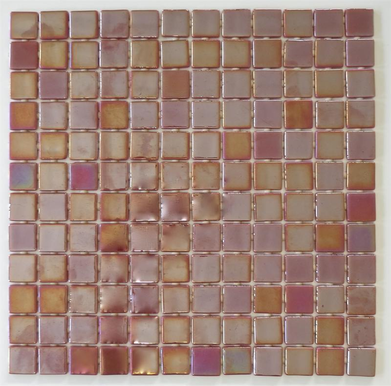 Unique Light Bathroom Remodel  Mosaic Tile Sample