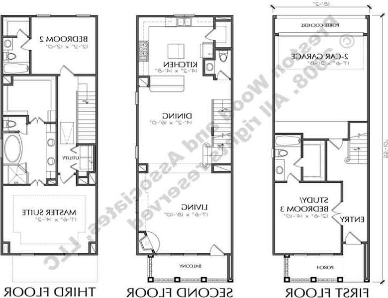 Urban house plans photos for Urban townhouse floor plans