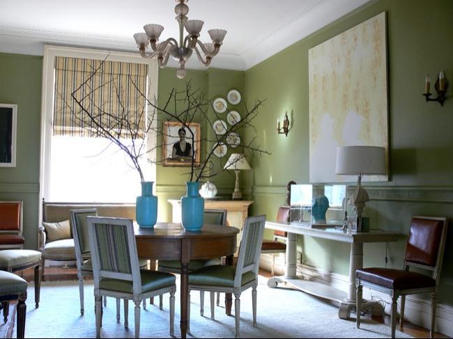 Sage green dining