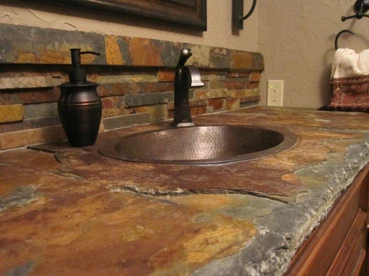 Slate Tile Countertop Photos