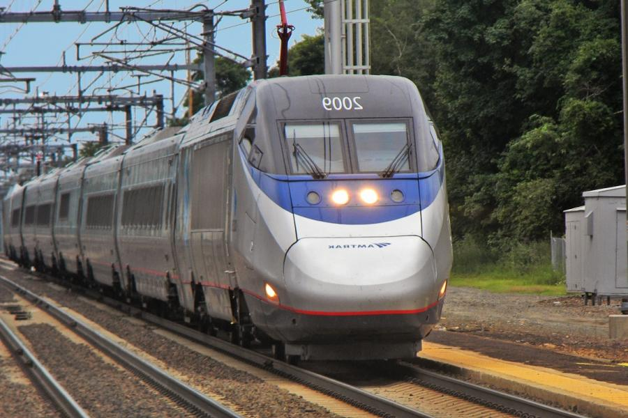Amtrak Acela Express near Old Saybrook, Connecticut