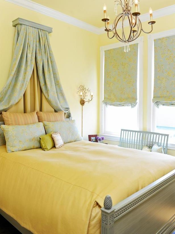 Traditional French-Style Yellow Bedroom