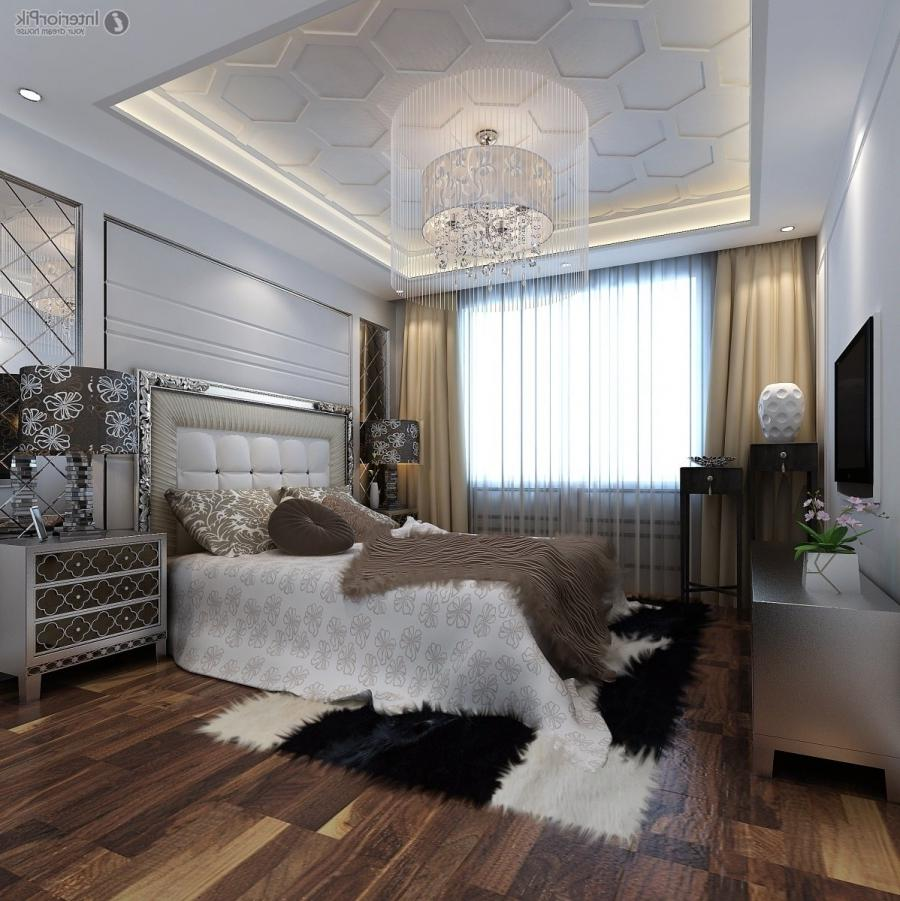 Modern master bedroom ceiling decoration effect chart greatly...