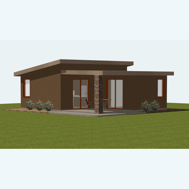 Modern small house plans with photos for Affordable modern home designs