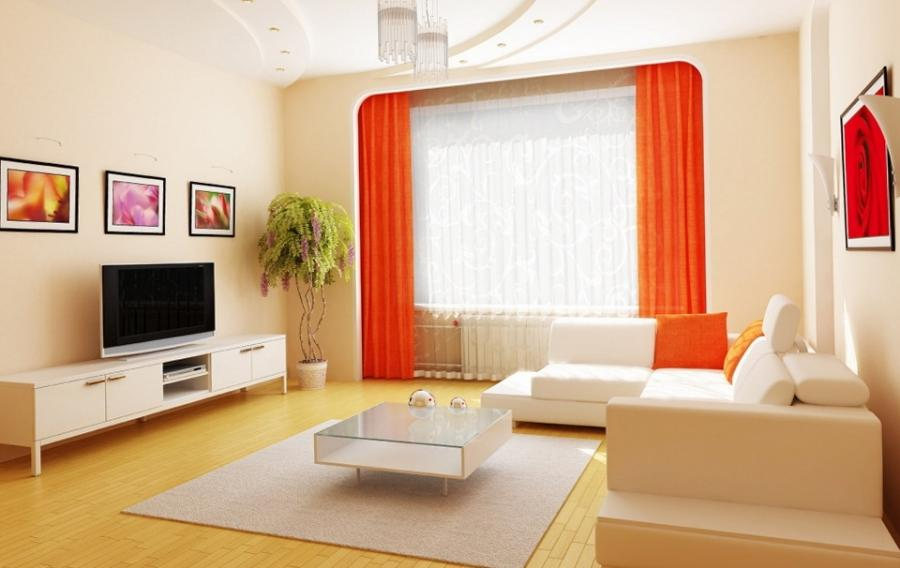 a bright room 10 Vibrant Residing Room In Orange decorating