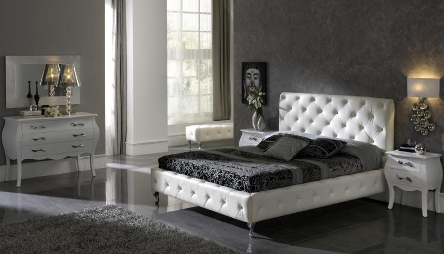 Of Black White Color Luxury Black White Bedroom With Leather...
