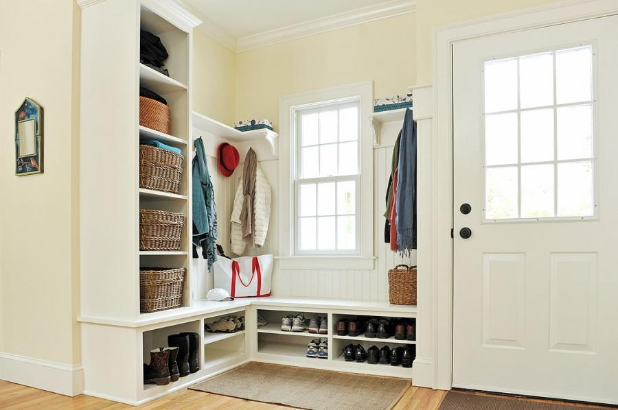 Ah, the mudroom! More and more homes are opting for this entryway...