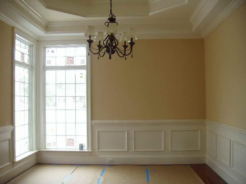 Interior dining room molding photos for Dining room molding panels
