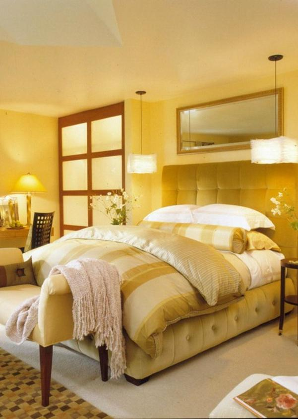 Comfortable The Best Yellow Bedroom Color Ideas