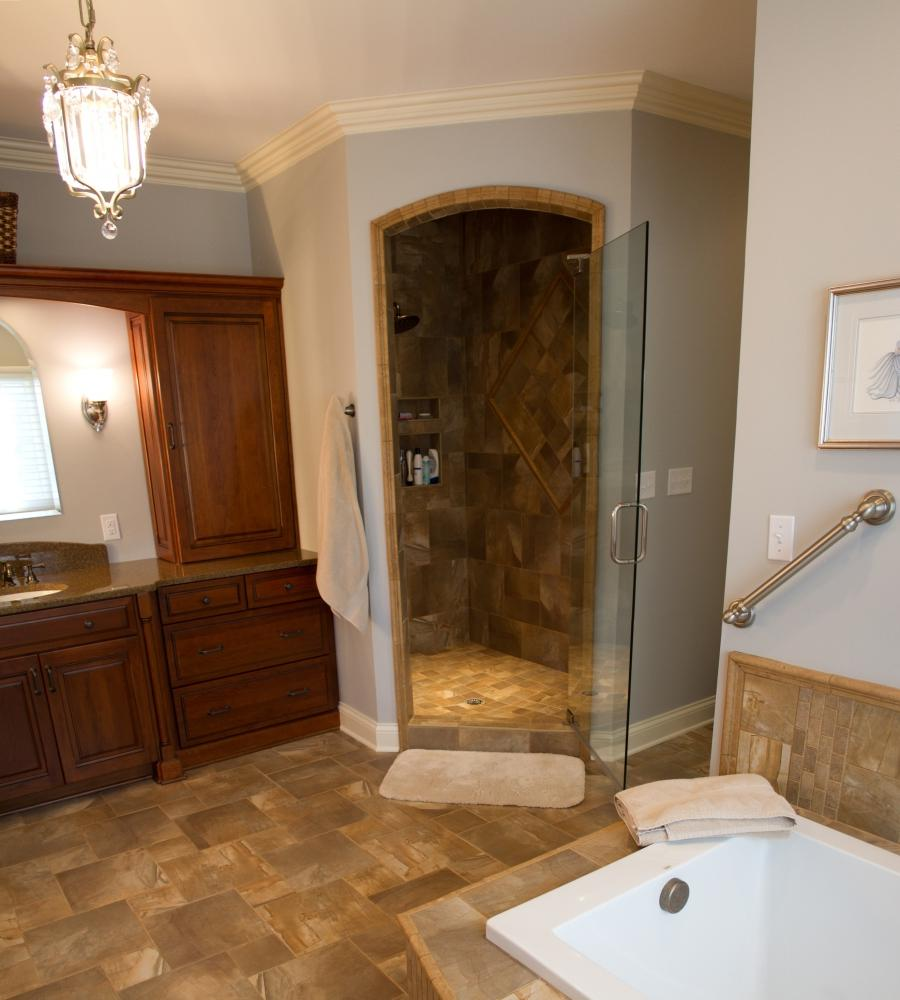 Photos dream bathroom for Bathroom remodel knoxville tn