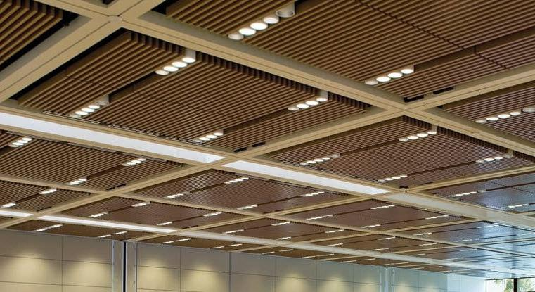 Wooden panel for suspended ceiling / wire mesh BARZ™ Ceilings...