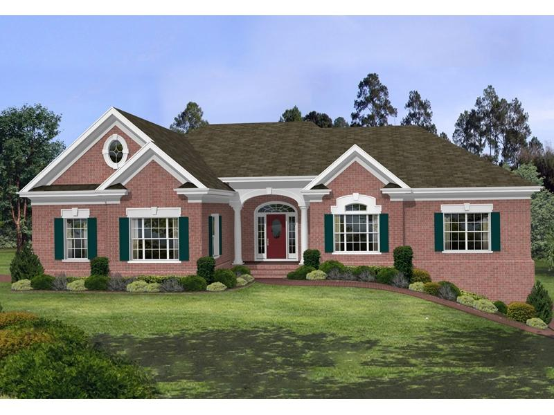 Stovall park brick ranch home plan 013d 0100 house plans and