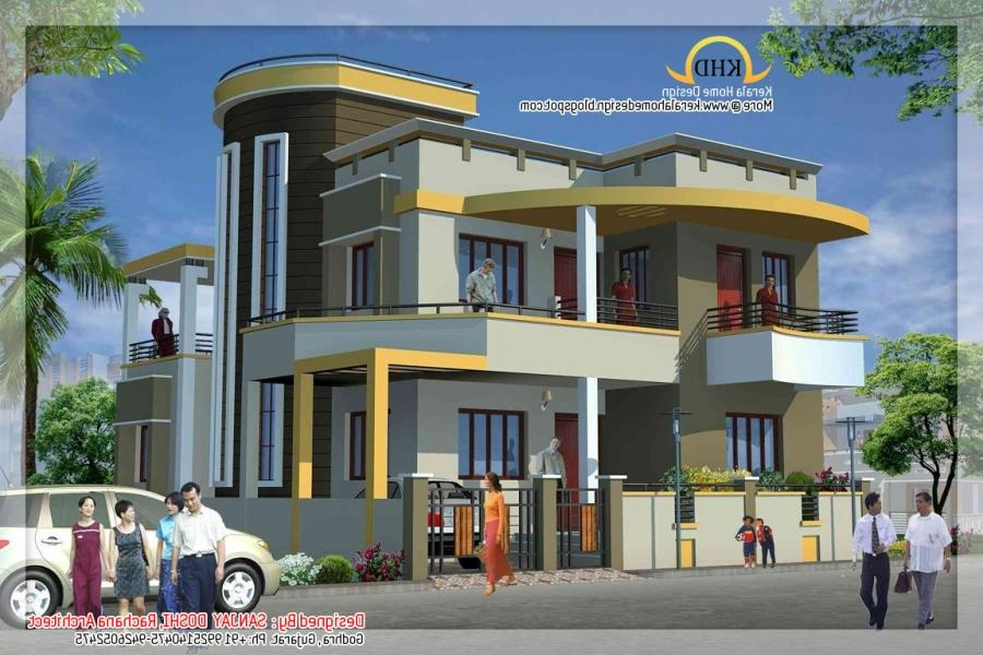 Front Elevation Of Duplex House : Front elevation of duplex house in india photos