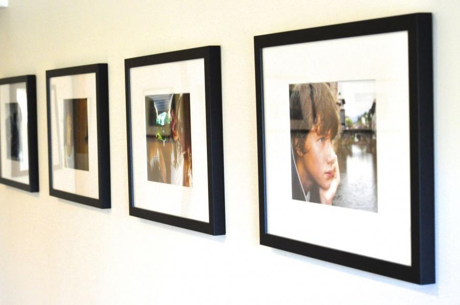 The hallway would make a great gallery wall for a row of...