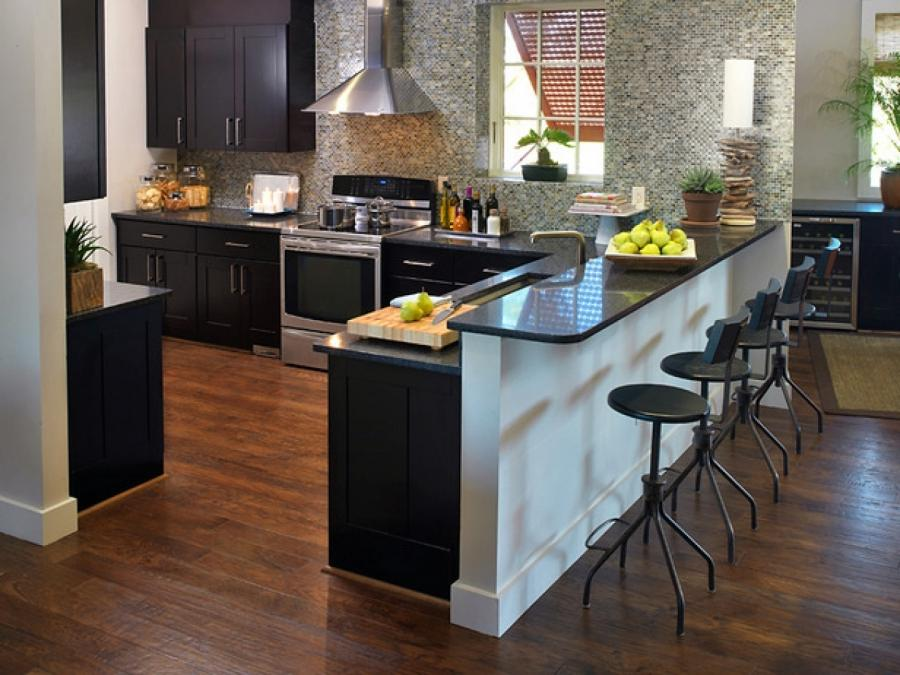 Стол стойка дизайн кухни