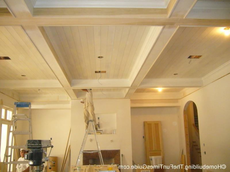 This particular coffered ceiling looms a full 12 feet over the...