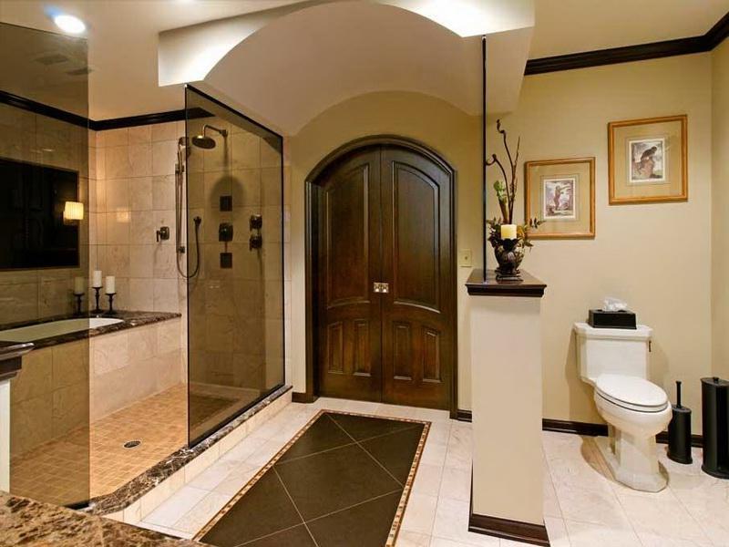 Master bathroom design photo for Elegant master bathroom designs