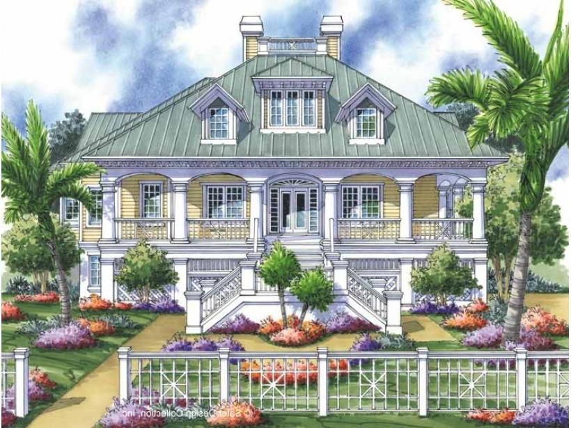 Low country house plans with photos for Tidewater house plans