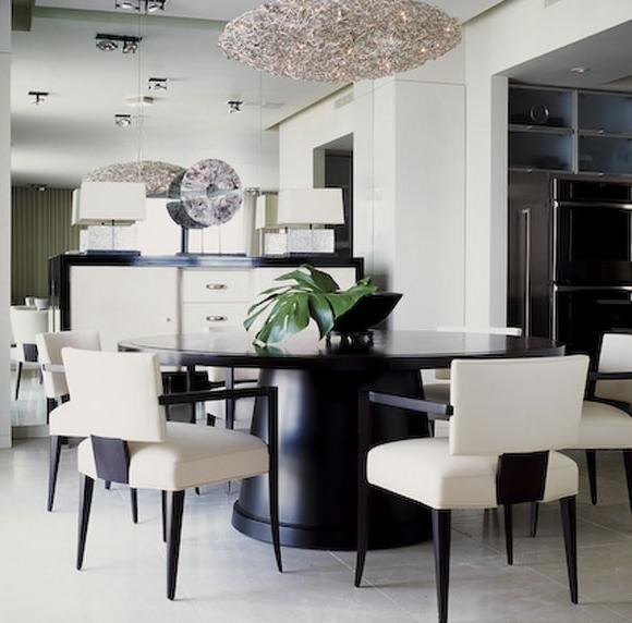 Black and White Modern Dining Room Design In Minimalist Dining...