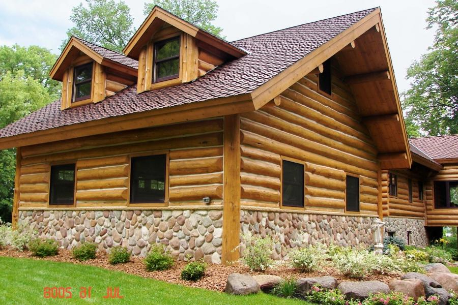 Log siding photos E log siding