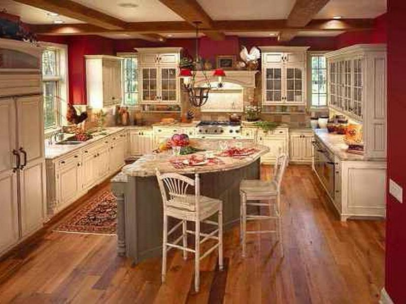 Exploring Country Kitchen with Old Design : Red Country Kitchen...