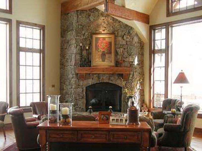 Make Home More Alive With Functional Stone Fireplace Designs :...
