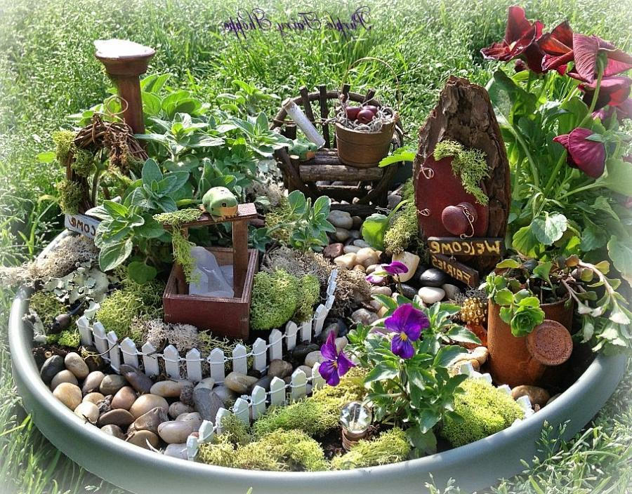 Creating a fairy garden photos for How to make a fairy garden container