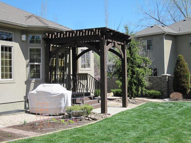 Timber Frame Pergola for Shade Over Bradford Entryway gazebos
