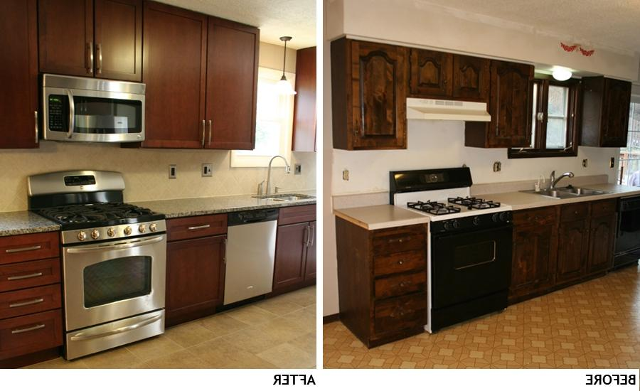 Granite and stainless kitchen remodel. Before and After Photo...