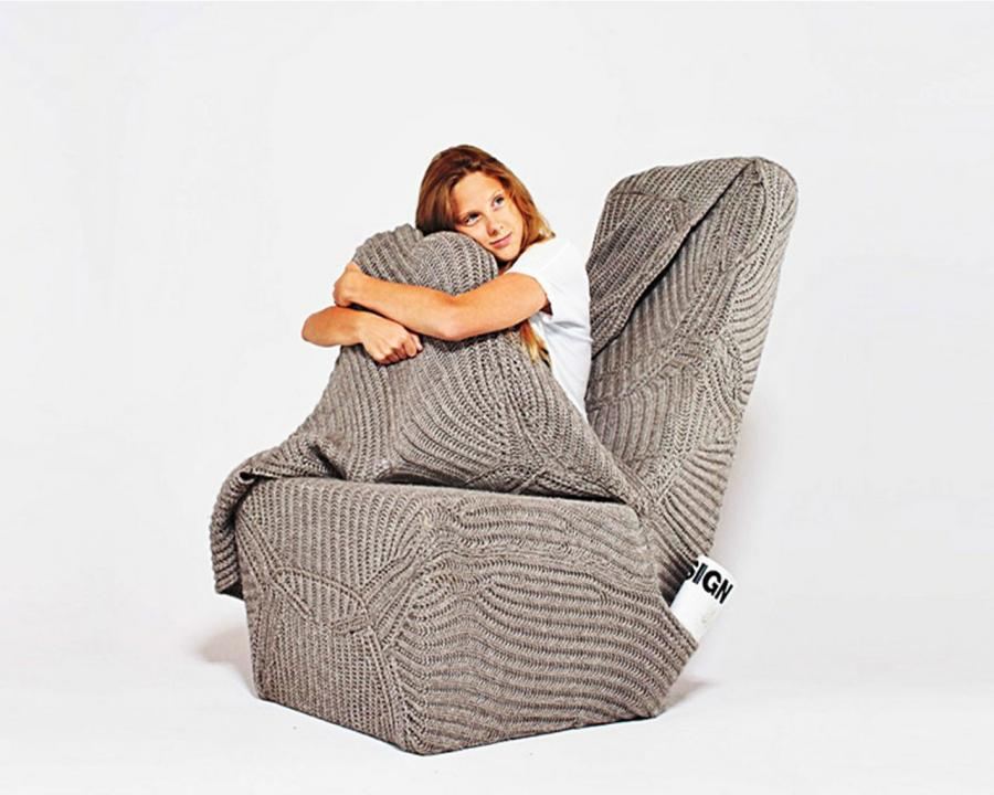 2013 Warm and Cozy Armchair With A Woolen Blanket