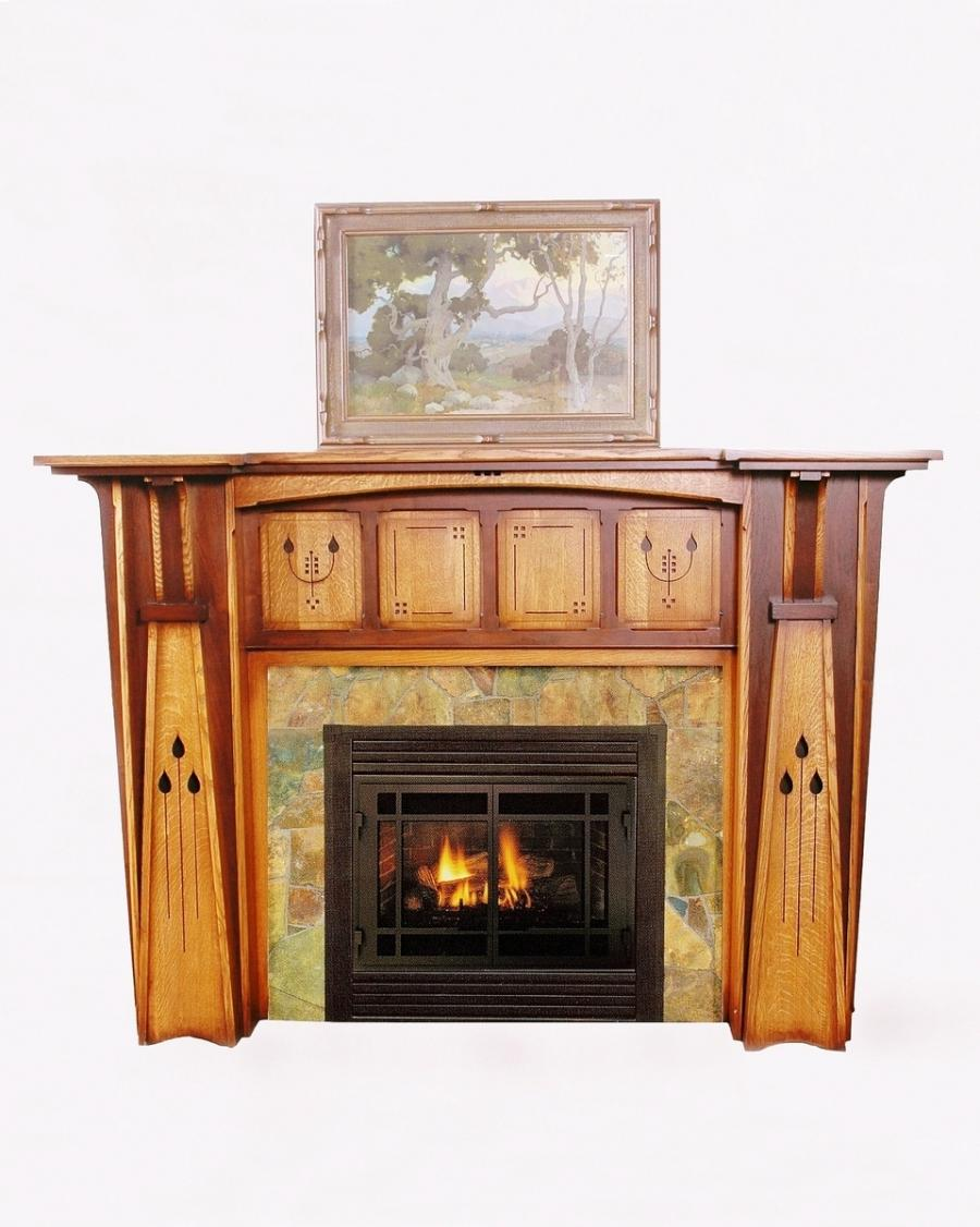 arts and crafts fireplace photo