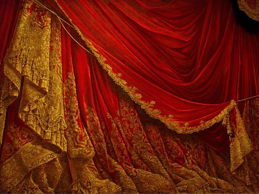 Backdrop Vintage Theater Stage Curtain - Red by EveyD ...