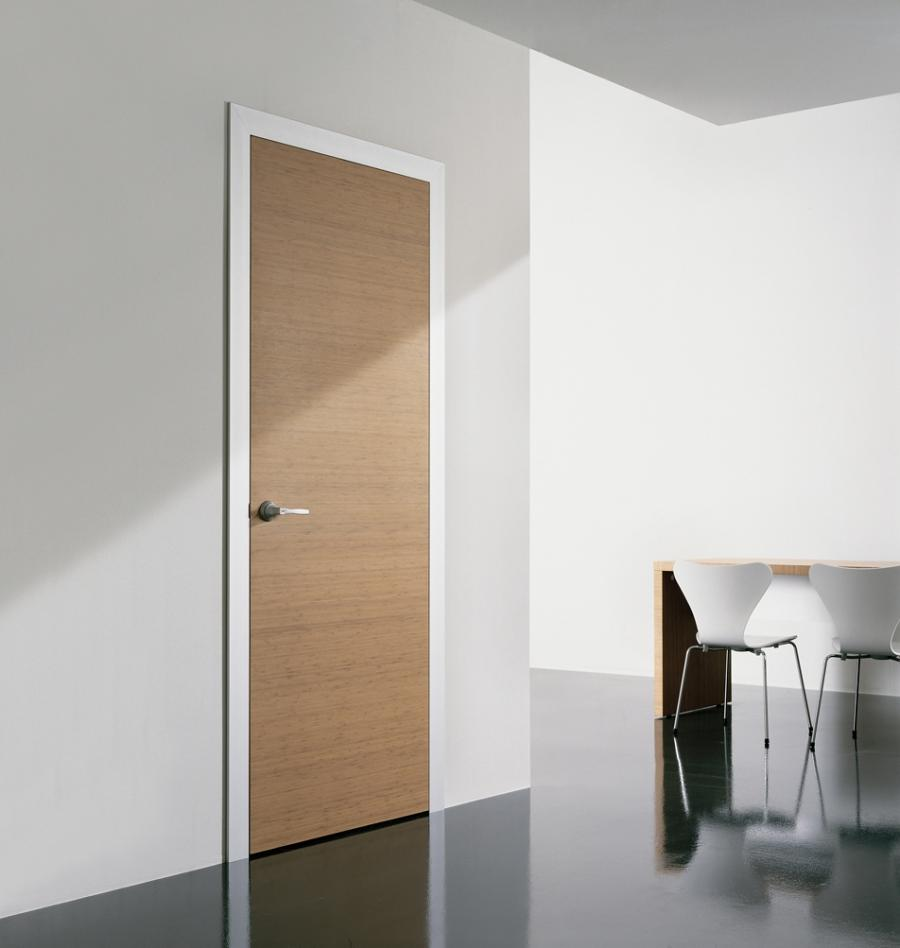 Furniture, Wood Hinged Modern Minimalist Swing Door Design .