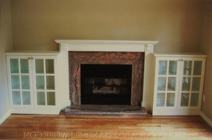 Bookcase around fireplace photos