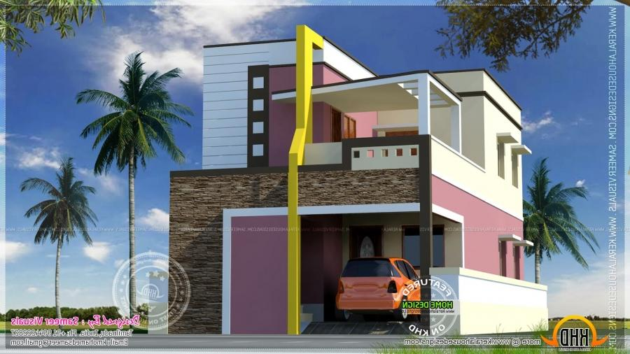 Design indian house plans with vastu home exterior design for South indian style house home 3d exterior design