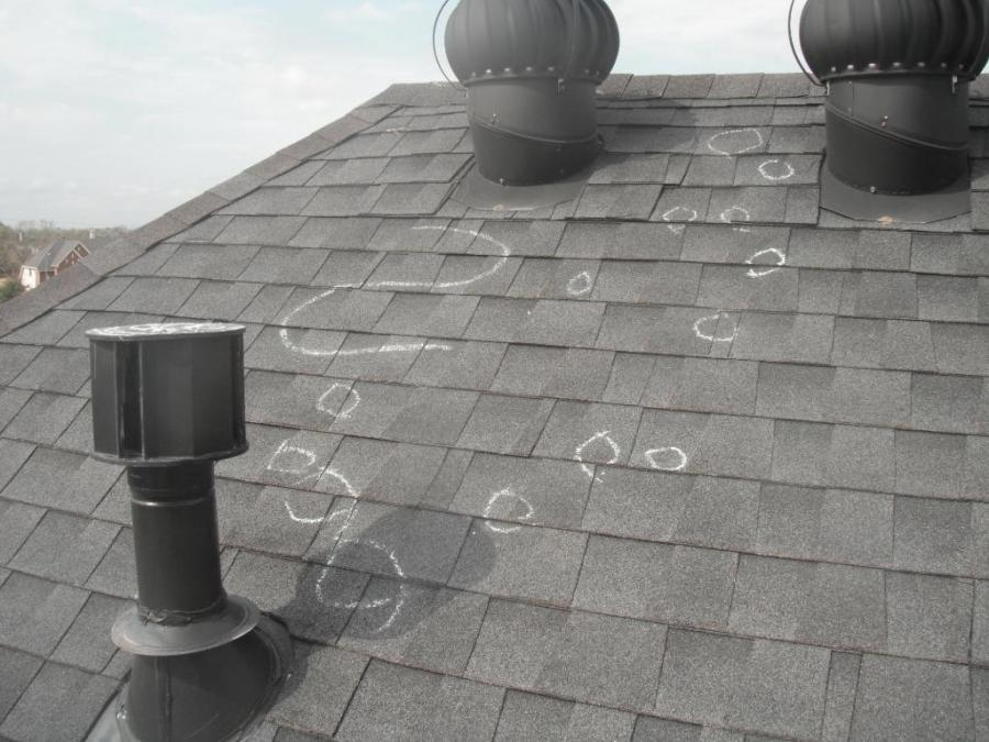 Hail Damage Roof Shingles Photos