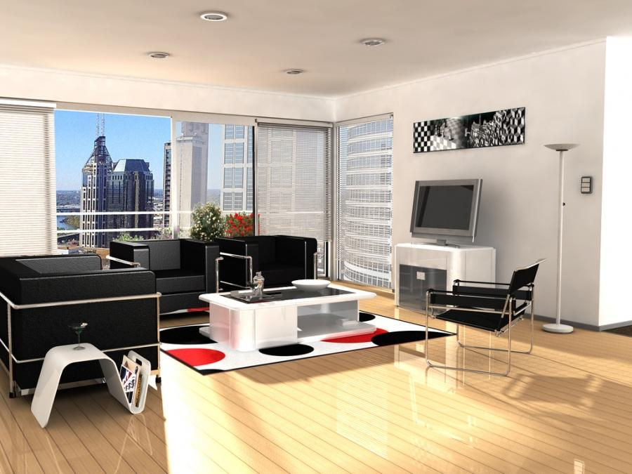Living Room : Modern Apartment Living Room Modern Apartment...