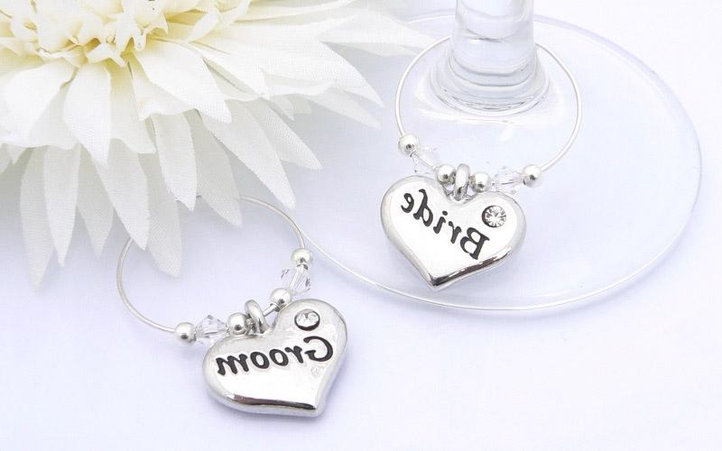 Personalised Wedding Gifts Website Reviews : Reviews: Bride and Groom Bride and Groom Wine Glass Charms source
