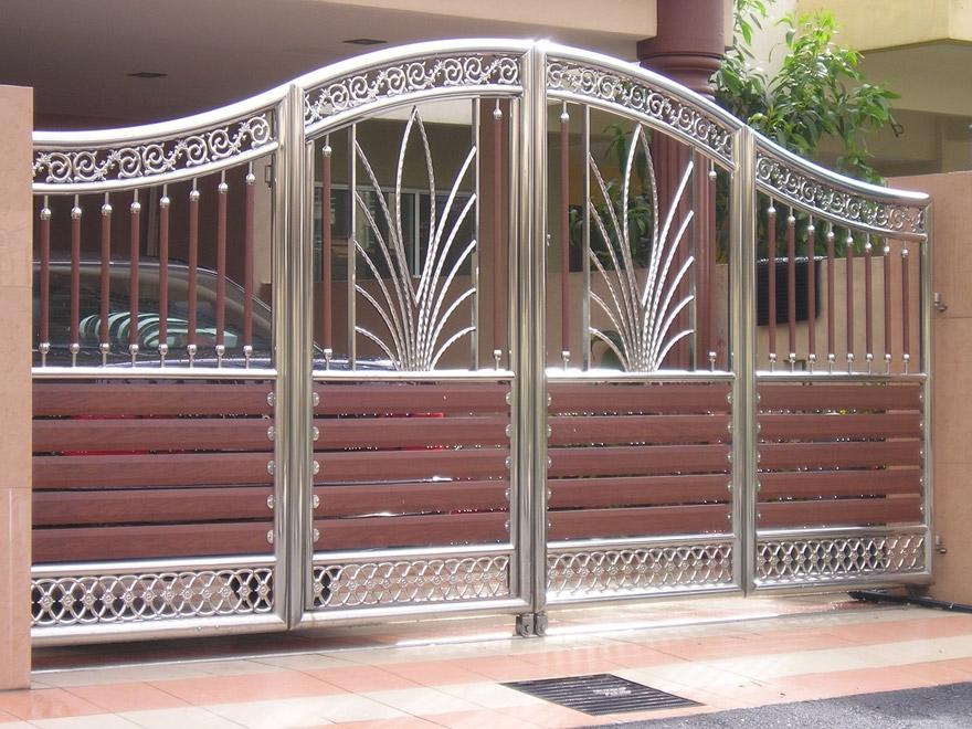 Main gate design photos - Wooden main gate design for home ...