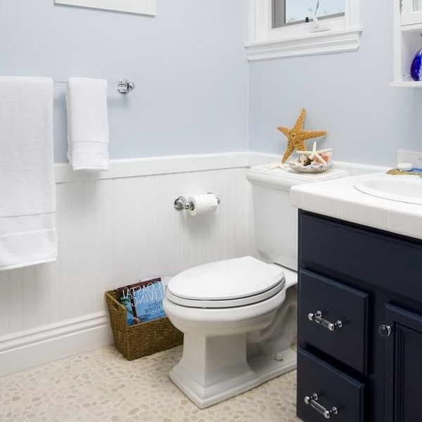 Blue Wainscoting: Wainscoting In Bathroom Photos
