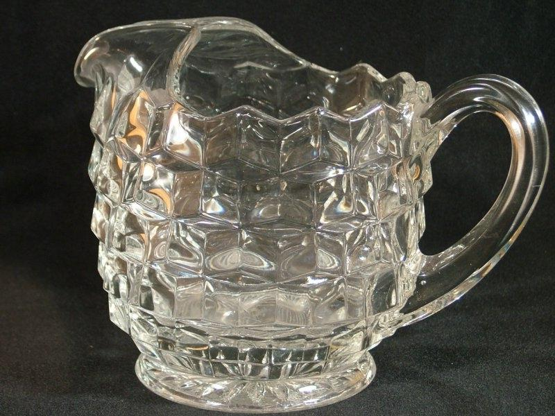 Fostoria Glass American Water Pitcher. Additional Images