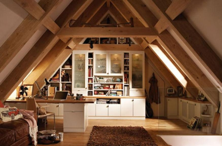 Wooden Cabinet For Your Attic Room
