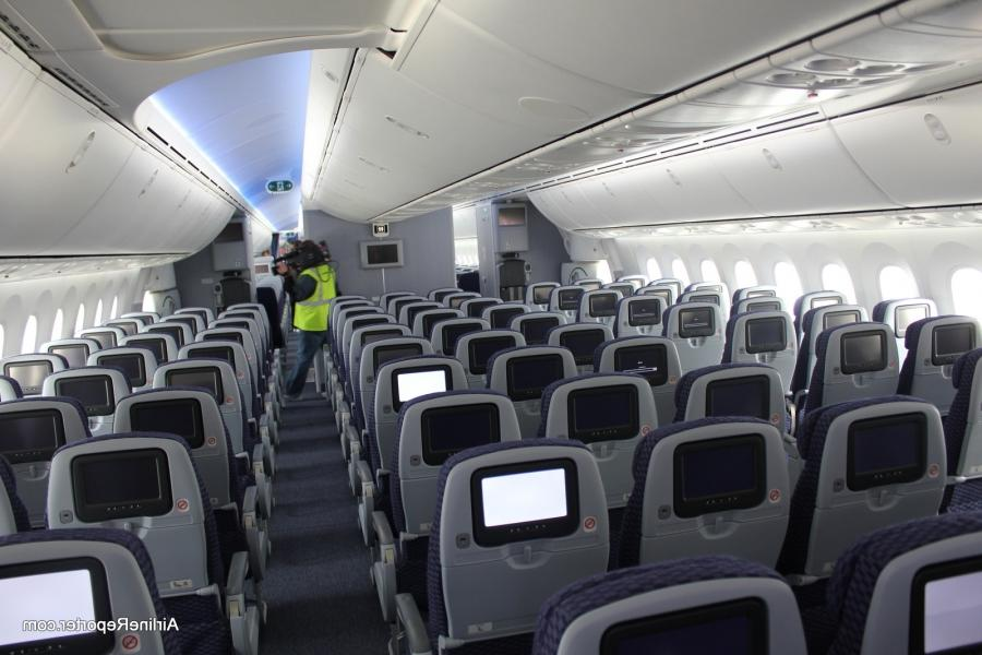 Boeing dreamliner photos interior