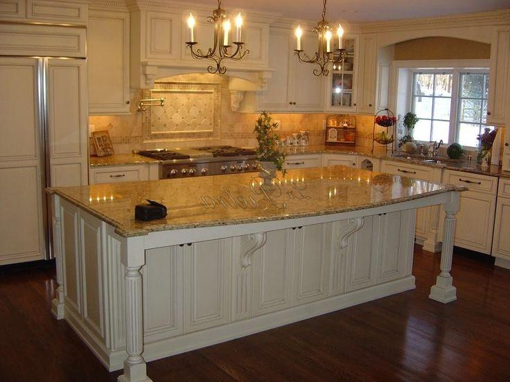 New Venetian Gold Granite Photos With White Cabinets