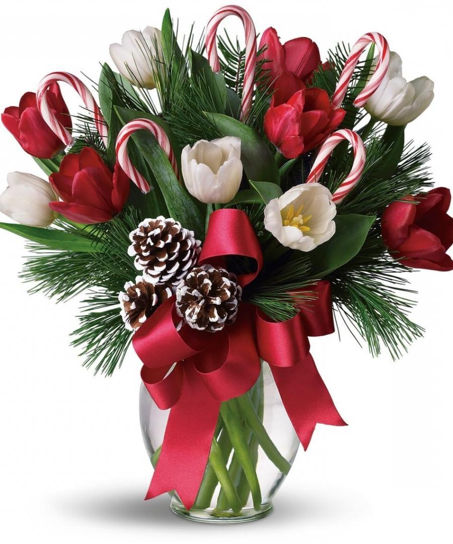 Modern christmas flower arrangements photos