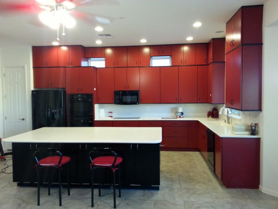 11 Fancy Black And Red Kitchen Decorations : Beautiful White Red...